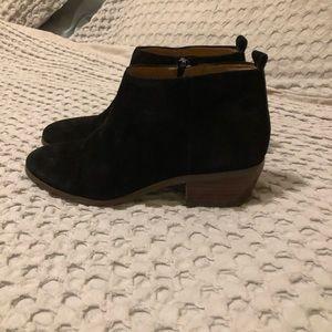 jcrew black booties